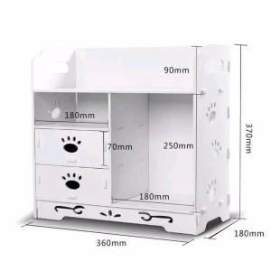 Hb527 Rak Kosmetik Multifungsi Desktop Storage Serbaguna Bahan Wpc Murah Tokopedia
