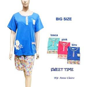 Jual SWEET TIME Setelan BIG SIZE / Piyama / baju tidur Anne Claire