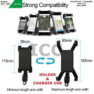 Charger Usb Motor Phone Holder Charger Pegangan Hp Motor Casan Motor Usb Tokopedia