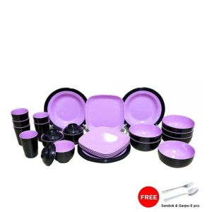Set Melamin Golden Dragon set piring makan