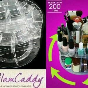 Glamcaddy Tempat Make Up Wadah Kosmetik Cosmetic Berputar 360 Cosmetic Rotaring Organizer Tokopedia