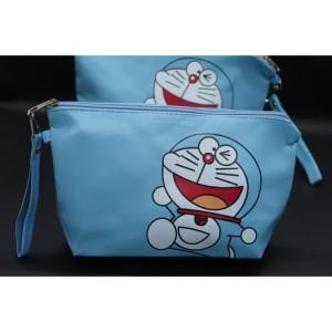 Diskon Tas Kosmetik Pouch Karakter Doraemon Sablon Tokopedia