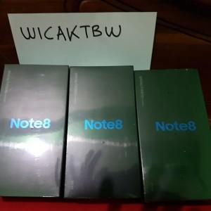 Samsung Galaxy Note 8 Sein Midnight Black Dual Sim Ram 6gb Internal 64gb Body Mulus Fullset Berbonus Muraah Tokopedia