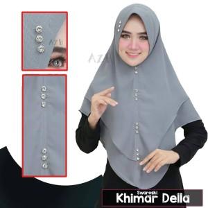 Jilbab Hijab Khimar Instan Syari Khimar Ceruti Della Swarovski Oval