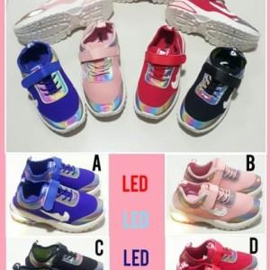 Sepatu Anak Anak Led Sprt Nk Laki Laki Dan Perempuan Tokopedia