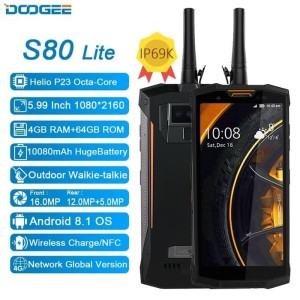 Ready Doogee S80 Lite P23 Ip68 5 99 Inch Nfc 10080mah 4gb 64gb Android 8 1 Tokopedia