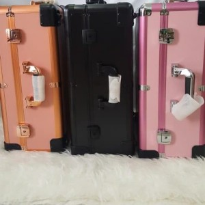 Beauty Case Tempat Makeup Kotak Kosmetik 003 Merah Tokopedia