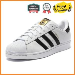 Jual Unisex Adidas SUPERSTAR Sepatu Klasik Unisex Hitam Emas Putih Pria e9e19455ff