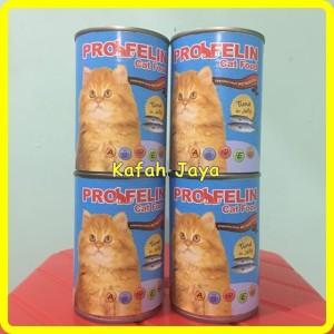 Jual Makanan Kucing Profelin 400g rasa Tuna jelly NO Whiskas 400g kaleng