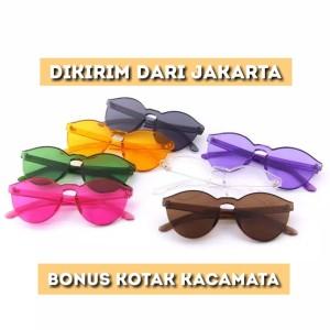 kacamata gaya jelly candy fashion aksesoris wanita