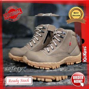 Sepatu Boots Pria Crocodile Boot Safety Ujung Besi Kulit Tokopedia