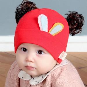 Jual Kupluk Bayi   Topi Kelinci   Topi Newborn   Topi Rajut Bayi   Wig Anak 315981ff42
