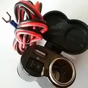 Charger 2in1 Chasan Hp Di Motor Dan Soket Lighter Cigarate Tokopedia