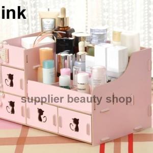 Rkk31 Rak Kosmetik Bahan Kayu Desktop Storage Kitty Cat Tokopedia