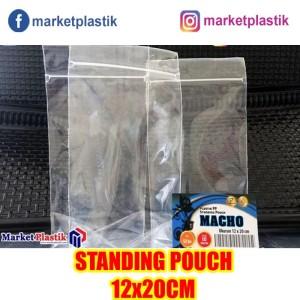 Plastik Ziplock Standing Pouch Ukuran 12x20cm/Klip Kemasan Berdiri