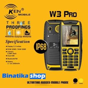 Hp Ken Mobile W3 Pro Garansi Resmi Ip68 Tokopedia