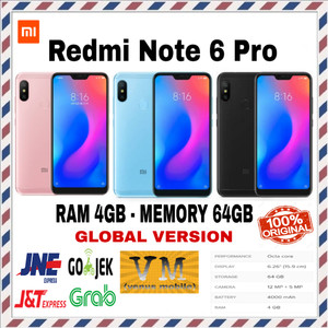 Xiaomi Redmi Note 6 Pro 64gb Ram 4gb New Bnib Ori Tokopedia