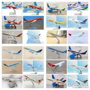 Diecast Die Cast Miniatur Model Pesawat Planes Plane Maskapai Airlines