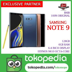 Samsung Galaxy Note 9 128gb Ram 6gb Garansi Sein 1tahun Tokopedia