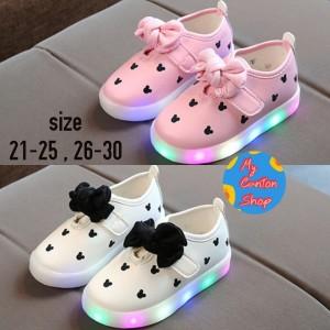 Sepatu Anak Perempuan Led Import Sepatu Anak Lampu Polka Dot Tokopedia