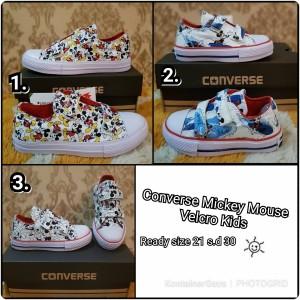 Sepatu Anak Murah Converse Kids Velcro Size 24 35 Tokopedia