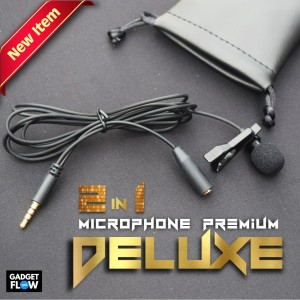 Microphone Mic Clip On Mic 3 5mm For Smartphone Pc Tokopedia