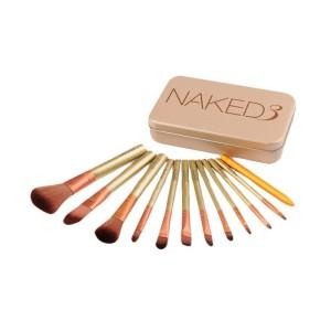 Naked 3 Makeup Brush Set 12 In 1 Kuas Kosmetik Tokopedia