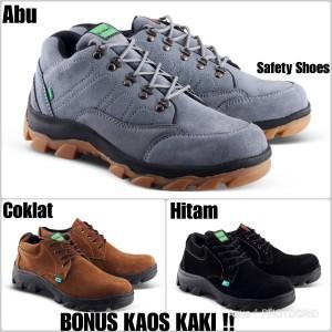 Kickers Boots Safety Ujung Besi Kulit Tracking Kerja Lapangan Tokopedia