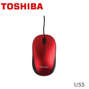 Toshiba Optical Mouse U55 - Merah