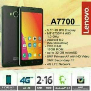 Lenovo A7700 Lte Ram 2gb Internal 16gb Garansi Resmi 1 Tahun Tokopedia