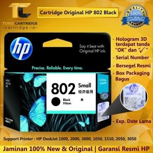Hp Cartridge 802 Black Original Tokopedia