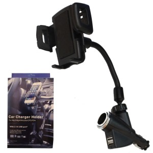Universal Car Holder Stand with 2 USB charger Port