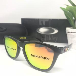 Jual Kacamata Oakley Frogskin VR46 Valentino Rossi lensa fire Polarized bb27fa039e