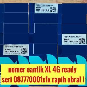 Jual nomor cantik kartu perdana XL 4G ready nomer cantik seri rapih obral