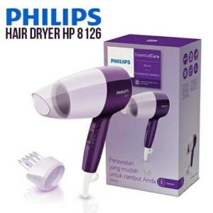 Philips Hp 8126 Hair Dryer 400 Watt Nozel Corong Sikat Tokopedia