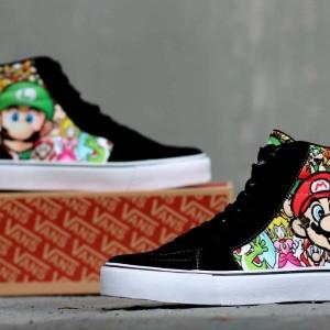 Sepatu Vans Motif Mario Tokopedia
