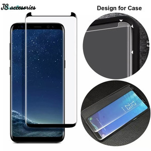 Samsung S9 Plus 3D Curved Slim Black Small HD Tempered Glass Full Lem