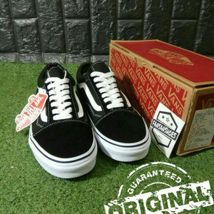 Sepatu Vans Authentic Black White Tokopedia