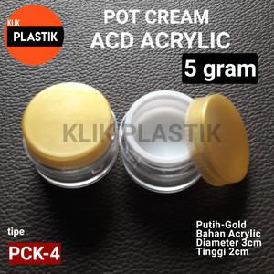 Kemasan Kosmetik Pot Acrylic Gold 10gr Tokopedia