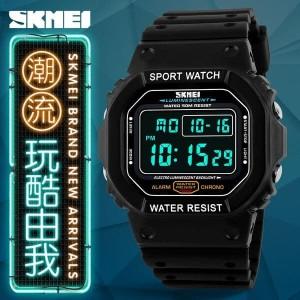 Jam Tangan Pria Keren Original Skmei Anti Air Casio Sport Led Watch Tokopedia