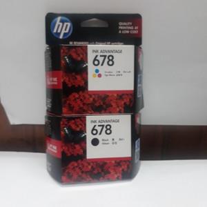 Tinta HP 678 Black dan HP 678 Color Original (paketan)