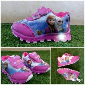 Sepatu Anak Perempuan Frozen Led 22 25 Tokopedia