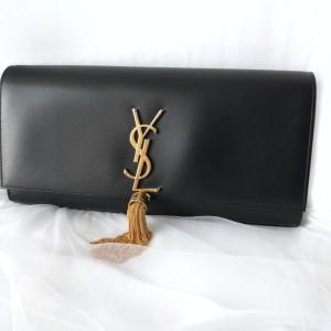Jual YSL Saint Laurent Cassandre Clutch black ghw Tassel abf94e4f55