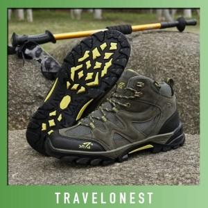 Sepatu Gunung Snta 491 Trekking Hiking Adventure Outdoor Original Tokopedia