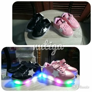 Sepatu Led Bayi Dan Anak Laki Laki Dan Perempuan Sepatu Sneakers Anak Dengan Lampu Menyala Tokopedia