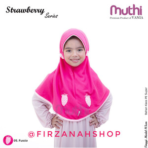 Grosir Ecer Jilbab Anak Vania Eksklusif Strawberry Size L 4 7th