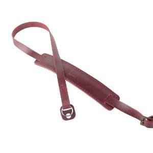 Strap Kamera Kulit Merah Adjustable Size Untuk Mirrorless Hev301 Tokopedia
