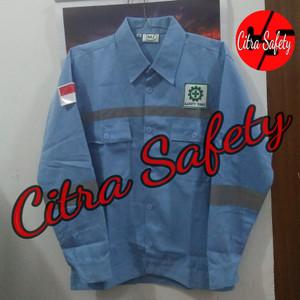 Baju Safety Atasan Atau Baju Proyek Logo Tokopedia