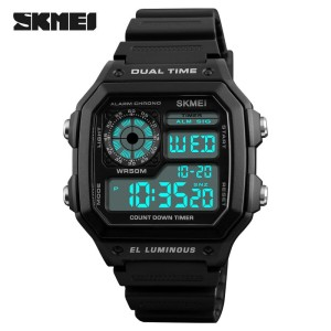 SKMEI Jam Tangan Digital Pria Jam Tangan Pria Anti Air Day Date 1299