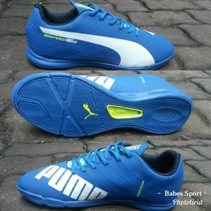 Sepatu Futsal Puma Evospeed Grade Ori Bawahan Komponen Original Biru Tokopedia